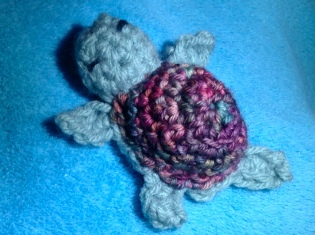 Shelby, the Crochet Baby Sea Turtle