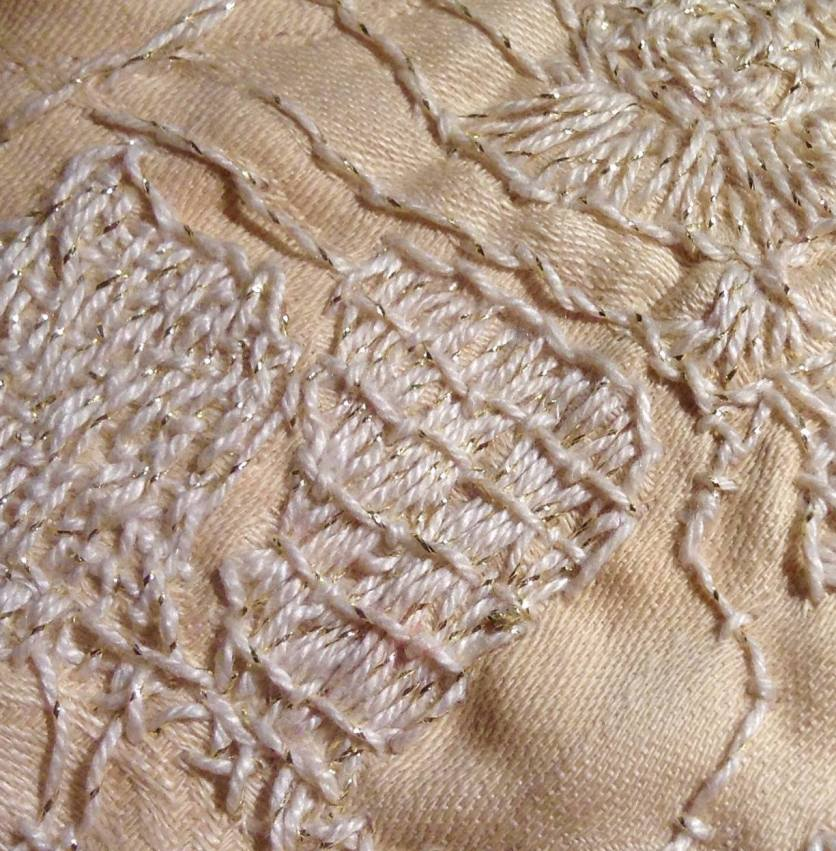 Visibly Mended Apron: Bayeux Stitch Darning, by Renata Bursten