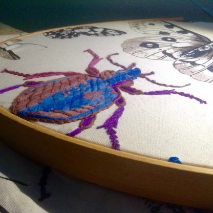 Bayeux Stitch Weevil - Teatowel
