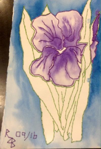Watercolour and Embroidery, Renata Bursten, 09/16