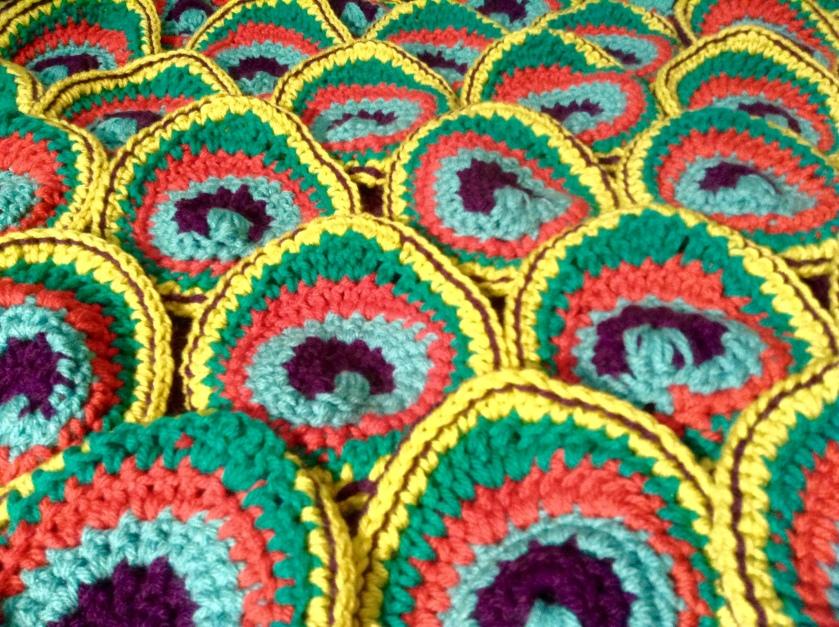 Crochet Peacock Feathers, Renata Bursten, 10/2016.