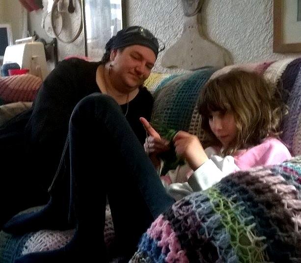 Teaching crochet!
