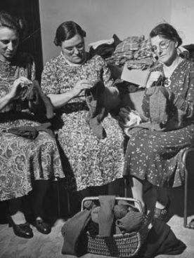 Three Women Mending