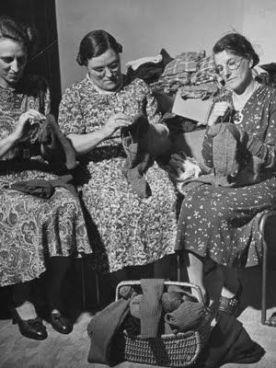 Three Women Mending